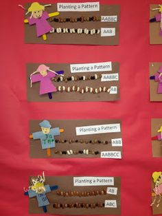 Planting patterns and a whole slew of farm related crafts. Goff's Pre-K Tales: Our Farm Unit in Pictures Pre K Activities, Autumn Activities, Kindergarten Activities, Color Activities, Fall Preschool, Preschool Math, Maths, Math Patterns, Farm Unit