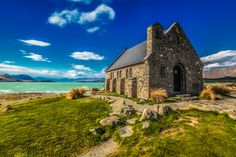 Places to visit. Anywhere in New Zealand. This is The Church of the Good Shepherd on Lake Tekapo on the South Island, New Zealand