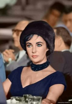 Elizabeth Taylor at a Hollywood luncheon to mark Soviet Premier Nikita Khrushchev's historic visit to the U.S. in 1959 by Bill Ray