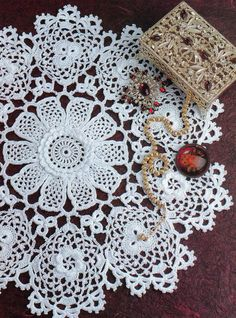 Made to order table runner crochet doily by KroneCrochet on Etsy, $59.90
