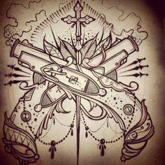 Necro Ink Art & Design Tattoo Sketches, Tattoo Drawings, Tattoo Ink, Becoming A Tattoo Artist, Classic Tattoo, Travel Drawing, Dream Tattoos, Dope Art, Looks Cool