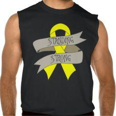 Sarcoma Standing Strong T-shirts & Shirts by www.giftsforawareness.com   #Sarcoma  #Sarcomashirts    #SarcomaAwareness