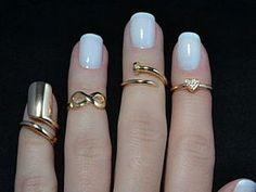 Кольца на среднюю фалангу пальчиков - Knuckle Rings - Ярмарка Мастеров - ручная работа, handmade