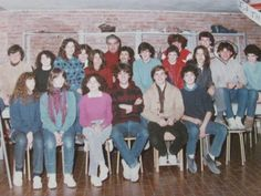 """Una classe 1A, 1982. Istituto Statale d'Arte """"Stagio Stagi"""" Pietrasanta."""