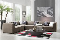 sofá grande espacio en este salón amplio