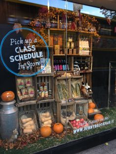 A great autumnal window display by Donnybrook Fair; featuring our props and apple crates.