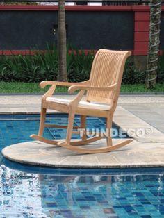 Rocking chair for outside. Lovely design!