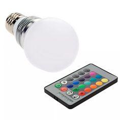 Lámpara Led Rgb 16 Colores Que Cambian 3w E27 + 24 Llave R - $ 40.260 en Mercado Libre