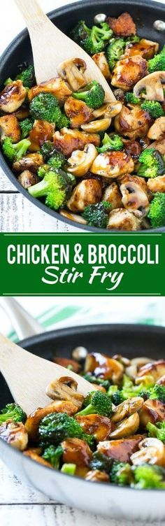Chicken & broccoli stir fry. Very delicious. I added asparagus to the mix and served over brown rice.
