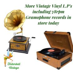 More Vintage VINYL L.Ps including original 78rpm Gramophone Records from the 1920's now in store. www.tinkerbellvintage.com