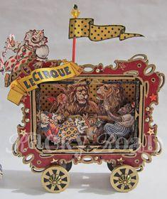 junk&stuff: Circus Wagon Altered Tin