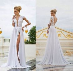 wedding dresses with side slits - Google Search