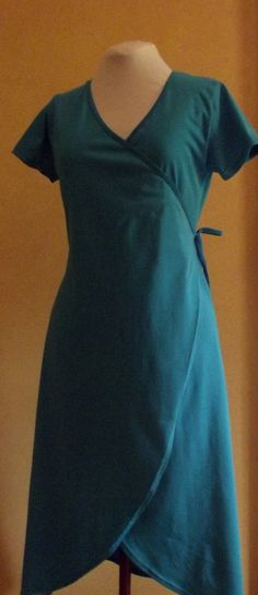 Very flattering wrap dress made from Australian made combed