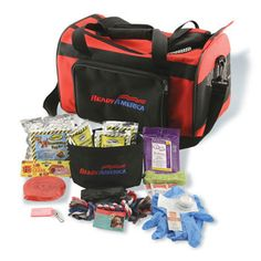 Would be great to keep in the car incase of dog park emergencies.  Ready America Grab 'n Go Small Dog Evacuation Kit