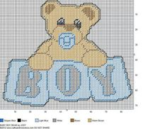 BABY BOY BEAR by JODY -- WALL HANGING