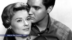 """Elvis Presley and Hope Lange in """"Wild in the Country,"""" a 1961 American drama film directed by Philip Dunne. Elvis Presley House, Elvis Presley Videos, Graceland Elvis, Wild In The Country, Lead Men, Classic Movie Stars, Drama Film, In Hollywood"""