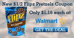 New $1/2 Flipz Chocolate-Covered Pretzels Coupon (+ Walmart Deal!)