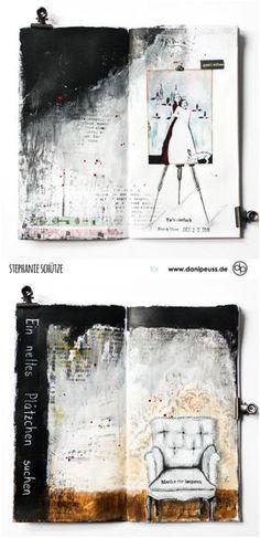 Art Journaling im danidori von Stephanie Schütze für www.danipeuss.de #danidori #klartextstempel #danipeuss
