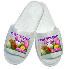 £5.50 Personalised Feel Better Soon Slippers