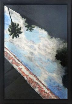 Thiana Sehn - Espelho, 2012 Pastel seco e guache sobre papel. 70 x 100 cm.
