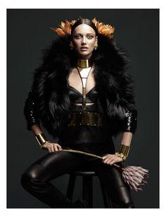 Karmen Pedaru, shot by Greg Kadel, styling job by Elizabeth Sulcer