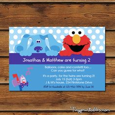 Blues Clues Birthday Party Invites - DIY Printables For Boys and Girls