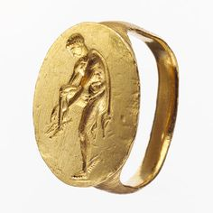 Finger ring engraved with an image of Hermes, 4th century B.C.