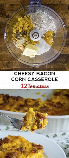 And trust us, don't skimp on the bacon! Veggie Casserole, Casserole Recipes, Side Dish Recipes, Vegetable Recipes, Vegetable Side Dishes, Food Processor Recipes, Food To Make, Bacon, Easy Meals