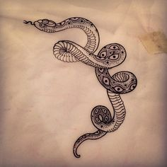 Drew this lil snake for the side of a client's head, but we're doing something…                                                                                                                                                                                 More