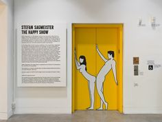 Stefan Sagmeister: The Happy Show looks at the NY-based graphic designer and typographers' principal area of interest in the relationship between text and image, while focusing on the pursuit of happiness through observing various maxims and undergoing cognitive therapy and mood-altering pharmaceuticals