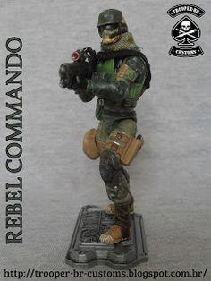 Gi joe Custom Action Figures: Star Wars Rebel Commando