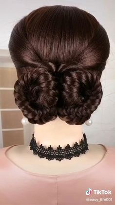 Short Messy Haircuts, Easy Hairstyles For Medium Hair, Up Hairstyles, Braided Hairstyles, Hair Up Styles, Medium Hair Styles, Hair Style Vedio, Hair Mannequin, Colored Hair Tips