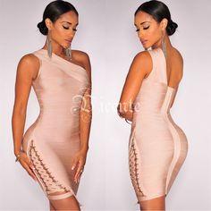 Runway Style Elegent One Shoulder Party Dress
