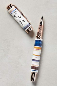 Rain-Smudged Pen by Jen Garrido gift idea for creatives Cool School Supplies, Office Supplies, Art Supplies, Desk Stationery, Stationary Supplies, Office Supply Organization, Scrapbooking, Too Cool For School, Office Accessories
