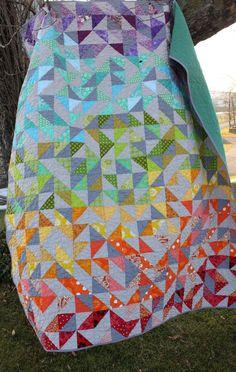 Modern Rainbow Quilt.