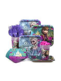 Frozen Standard Kit - Birthday Party Supplies and Themed Tableware 7.99 Birthday in a Box site Pack of 8