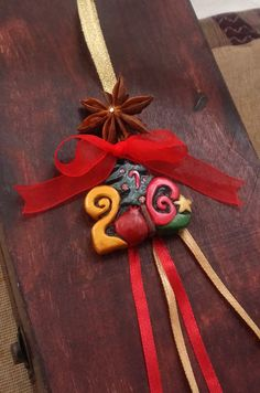 2016 Lucky Charm Hanging Ornament 2016 by EvasCreationsShop Christmas Ideas, Xmas, Unicorn Jewelry, Brooches Handmade, Pinecone, Christmas Jewelry, Hanging Ornaments, Lucky Charm, Swarovski Crystals