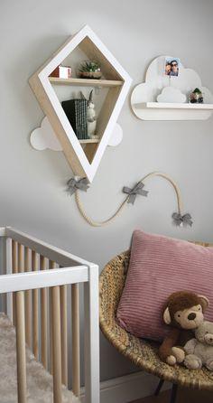 Wood Nursery, Nursery Shelves, Nursery Furniture, Nursery Neutral, Nursery Room, Wall Shelves, Kids Bedroom, Bedroom Decor, Themed Nursery