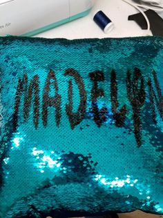efbe38508fb3e3 HOW TO PERSONALIZE MERMAID SEQUIN PILLOW – Crafty Creations Mermaid Pillow