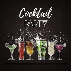 Menu Cocktail, Menue Design, Glass Photography, Cocktails, Chalk Drawings, Bar Drinks, Chalkboard Art, Bar Signs, Chalk Art