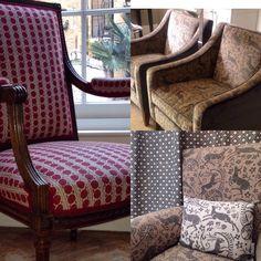 upholstered chairs in Bohemia & battle great wood velvet & wool www.lindsayalker.com
