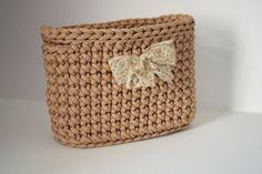 Handmade/ rope crochet/ rectangular storage basket/ home decor by iKNITSTORE on Etsy Crochet Bowl, Storage Baskets, House Warming, Straw Bag, I Shop, Gifts, Handmade, Etsy, Home Decor