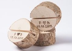 Set of 10 personalized holders.  We can burn any text- date, names, initials etc.   These stumps to hold your wedding table numbers, menu cards, signs, photographs, postcards and much...