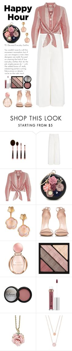 """Happy Hour Roses"" by saifai ❤ liked on Polyvore featuring Joseph, River Island, WithChic, Pasquale Bruni, Stuart Weitzman, Bulgari, Burberry, Anastasia Beverly Hills, 1928 and Michael Kors"