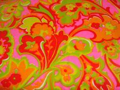 Sale Sale Vintage 1960s Hot Heart Gogo Mod Hippie Flower Power Child Cotton Retro Quilt Fabric Yardage 22x 26