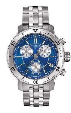 Tissot with cool blue and metal. Great for a casual day