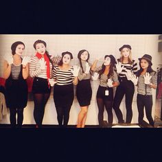 Mimes costumes.