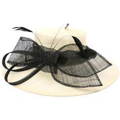 Chapeau Mariage ivoire et noire Méli Mélo #chapeaumariage #mariage #mode #bonplan #look sur Hatshowroom.com
