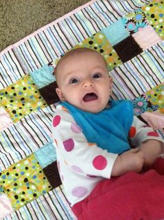 Baby E with her quilt