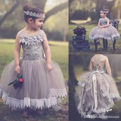 Summer Boho Flower Girl Dresses For Vintage Wedding Jewel Neck Lace Appliques Little Kids First Communion Birthday Ball Pageant Gowns 2016 Modest Flower Girl Dresses Online Flower Girl Dresses From Whiteone, $75.4| Dhgate.Com